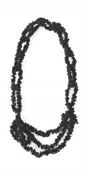 Necklace made from popcorn