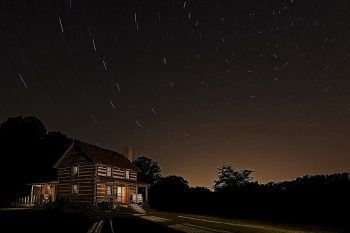 Chapel Hill House under the stars