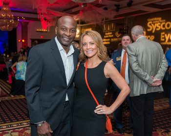 OJ McDuffie and his wife Fran Smock-McDuffie at fundraiser